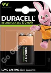 Duracell 9V PP3 170 mAh NiMH Rechargeable Battery (HR22)