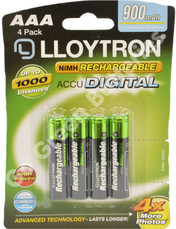 LLoytron AAA 900 mAh Rechargeable Battery. 4 Pack