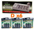 LLoytron Universal Charger and 6 D size batteries