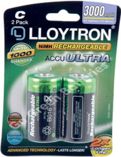 Lloytron C 3000 mAh NiMH Rechargeable Batteries (HR14). 2 Pack