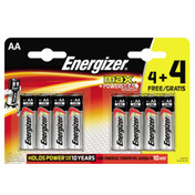 Energizer AA Ultra Plus Alkaline Batteries (LR6, MN1500) 8 Pack