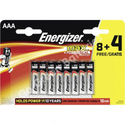 Energizer AAA Ultra Plus Alkaline Batteries (LR03, MN2400). 12 Pack