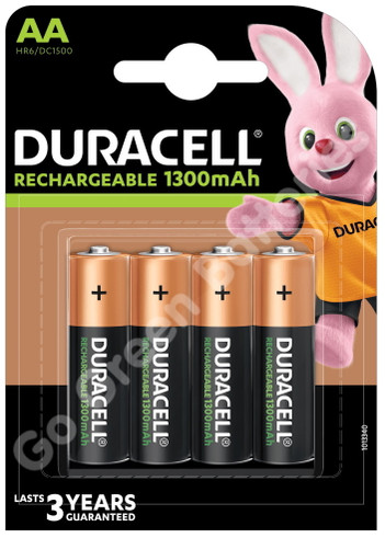Duracell AA 1300 mAh NiMH Rechargeable Batteries