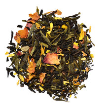 A select fusion of the finest quality black and green teas, flavouring rose petals, rose leaves & sunflower blossoms. Fruity floral flavours greet the drinker, followed by a mild smokey aftertaste from the black tea.