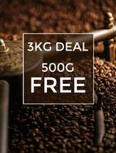 3KG Coffee + 500g FREE!