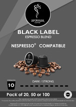 Aromas Black Label (Nespresso Machine Compatible) Coffee Capsules
