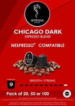 Aromas Chicago Dark (Nespresso Machine Compatible) Coffee Capsules