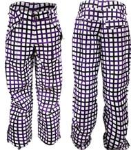 M3 Freshfield Insulated Women's Ski Snowboard Pants Purple Check