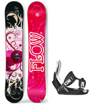 Flow Tula Women's Snowboard Package with Flow Bindings
