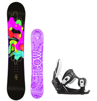 Flow Pixi Women's Snowboard Package with Flow Bindings