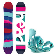 2017 Head Shine Womens Snowboard wth Matching Bindings