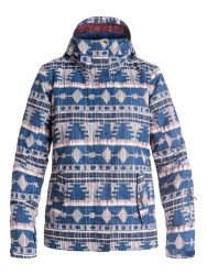 Roxy 2017 Jetty Women's Snowboard Ski Jacket Akiya Blue Print