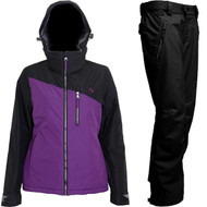 2018 Turbine Cascadia Women's Snowboard Ski Jacket + Pants Plum