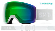 Smith Optics Skyline XL Goggles White Vapor/ChromaPop Green Lens ASIAN FIT