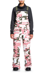 DC Women's Collective Snowboard Ski Bibs Dusty Rose Camo  - 2020
