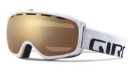 Giro Basis Goggles White Frame Amber Gold Spherical Lens