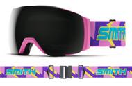 Smith I/O MAG XL ASIA FIT Flamingo Archive CPS Black Lens Ski Goggles