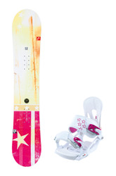 Head Pride Womens Snowboard Bindings Package