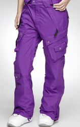 Nikita Prindle Women's Ski Snowboard Pants - Purple Extra Small