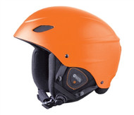 Demon Audio Phantom Orange Ski Snowboard Helmet