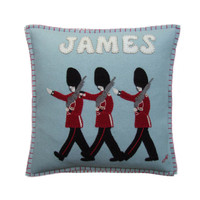 Personalised Marching Guards Cushion – a fantastic Hand-Embroidered cushion we can personalise for you or your loved ones! Buy it now!