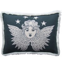 Nordic Grey Guardian Angel Cushion