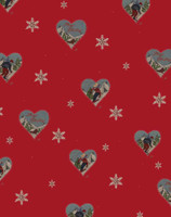 Red Christmas Alpine Wrapping Paper