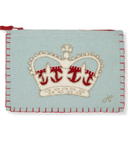 London Crown Zippy Purse (Duck Egg Blue)