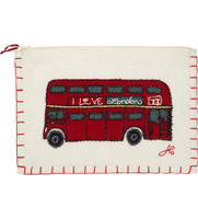 London Bus Zippy Purse (Cream)