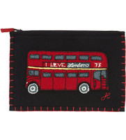 London Bus Zippy Purse (Black)
