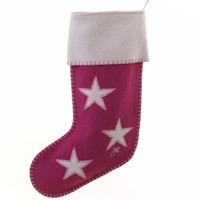 Christmas Star Stocking (Pink)