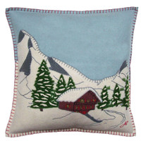 Alpine Chalet Cushion (Duck Egg Blue)