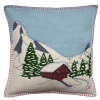 Alpine Chalet Cushion (Duck Egg Blue)