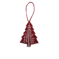 Red Alpine Christmas Tree Decoration (Red)