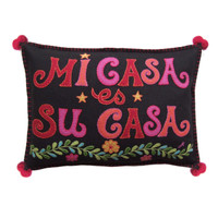 Fiesta Mi Casa es Su Casa Cushion (Black)