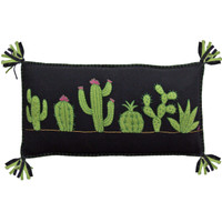 Fiesta Cactus Cushion (Black)