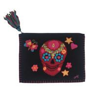 Fiesta Skull Clutch Bag (Black)