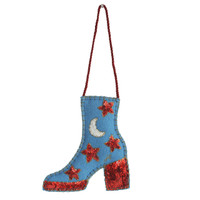 Christmas Sequin Glam Rock Boot Decoration