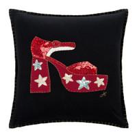 Glam Rock Sequin Shoe Cushion (Black)