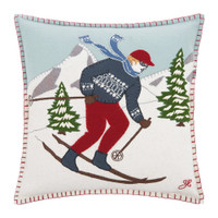 Alpine Skier Man Cushion (Blonde)