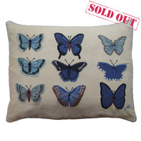 Blue Butterflies Cushion