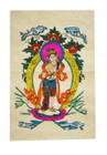 Buddha Poster, Hand-Painted in Nepal on Lokta Paper