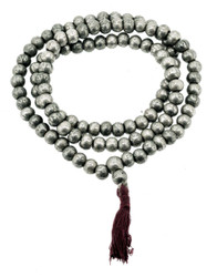 Silver Om Mani Padme Hum Prayer Beads
