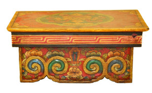 Meditation Altar Table with Eternity Knot Design