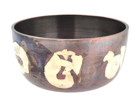 Copper and Silver Singing Bowl, 4 Inches, with Om Mani Padme Hum Carved around the bowl