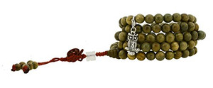 Sandalwood Mala with Owl Charm