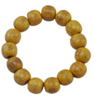Yellow Wood Wrist Mala