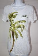 Women's White Palm Burnout Tee
