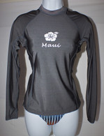 Women's Long Sleeve Gray Rash Guard