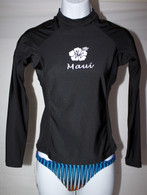Women's Long Sleeve Black Rash Guard